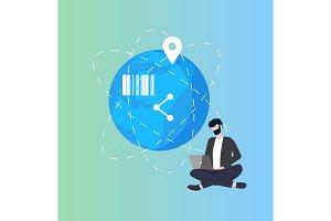 Earth Planet Global Networking Bar