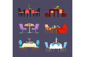 Design Serving of Table, Dishes and