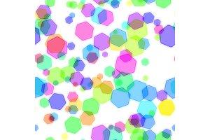 Abstract colorful bokeh design