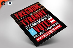 Freedom or Tyranny Flyer and Poster
