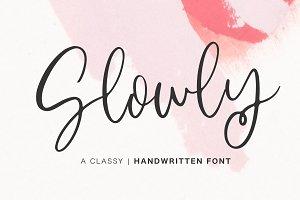 Slowly | Handwritten Font