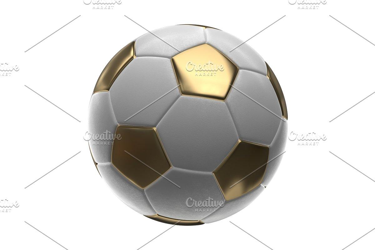de3bc2e04 Golden Soccer-ball isolated on white ~ Illustrations ~ Creative Market
