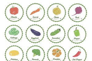 Vegetable label and tag set