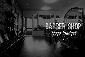 Vintage Logo Badges: Barber Shop
