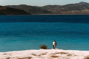 Man and woman on the island