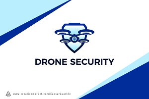 Drone Security Logo Template
