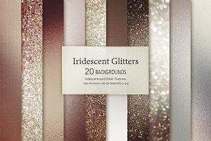 Brown Iridescent Glitter Textures