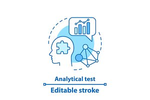 Analytical test concept icon
