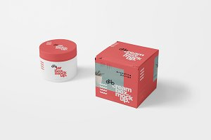 Cosmetic Jar & Box Mockups