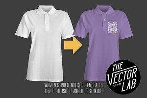 Women's Polo Shirt Mockup Templates