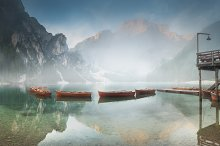 Lago di Braies in Dolomites, Italy by  in Architecture