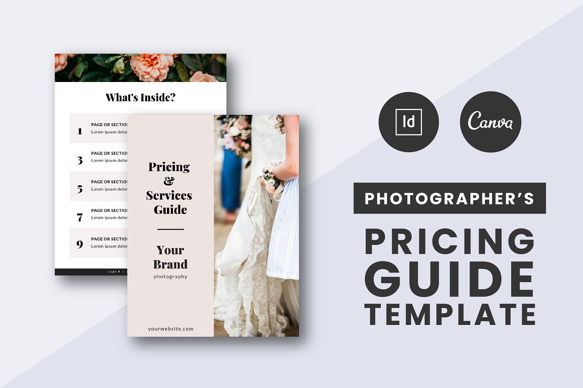 Photographers Pricing Guide Template ~ Brochure Templates