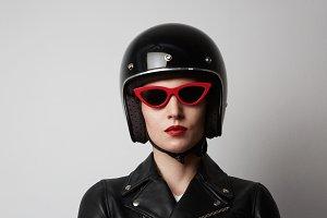Headshot Portrait of fashion girl