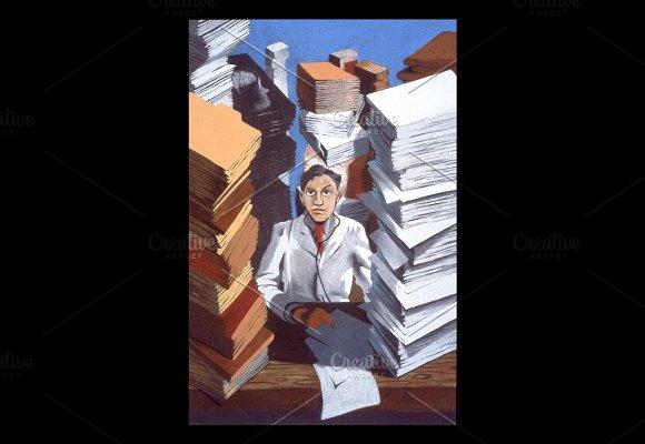 Doctor Records Handmade Illustration