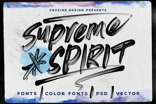 Display Fonts: Cruzine - Supreme Spirit Brush Font
