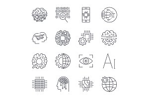 Icons set for artificial