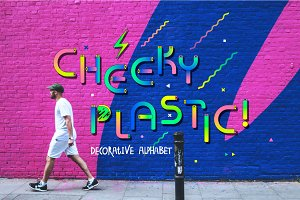 Cheeky plastic! Decorative alphabet