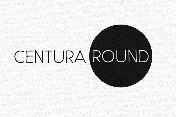 Fonts: Leitmotif - Centura Round - 3 fonts