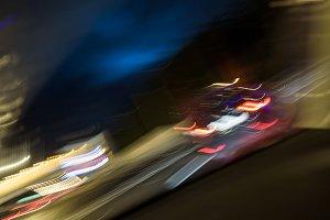 abstract night traffic