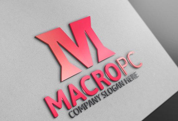 Macro Pc / M Letter Logo