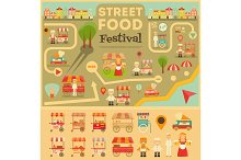 Street Food on City Map