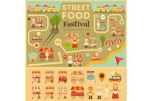 Street Food on City Map