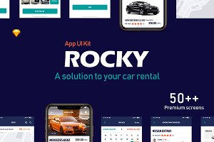 Rocky Car-Rental App UI Kit