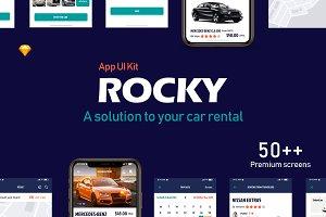 Rocky Car-Rental App UI Kit
