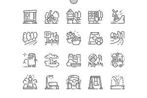 City Park Line Icons