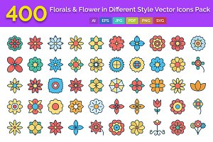 400 Florals & Flower in Icons Pack