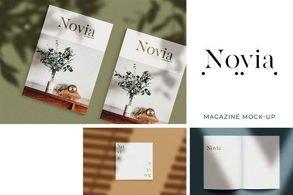 Print Mockups: Photographers Lounge - Novia Photo Magazine Mock-Up