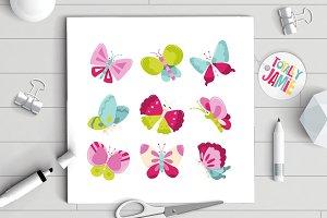 Happy Sweet Butterflies Set