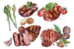Steak Watercolor png
