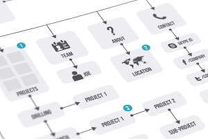 Flowchart & Elements ~ Web Elements ~ Creative Market