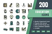 200 Education icon pack