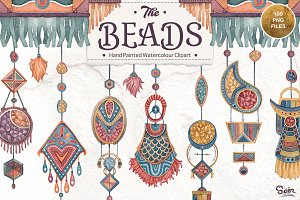 The Beads (Watercolour Clipart)