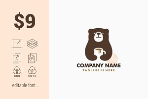 Bear Coffee Mug Logo