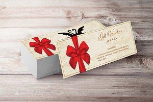 Elegant Gift Voucher Ribbon
