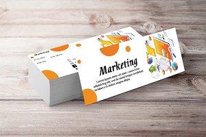 Marketing Ticket Event Orange