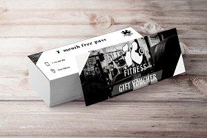 Fitness Ticket Black White