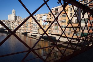Girona From Eiffel Bridge