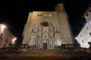 Girona Cathedral at Night
