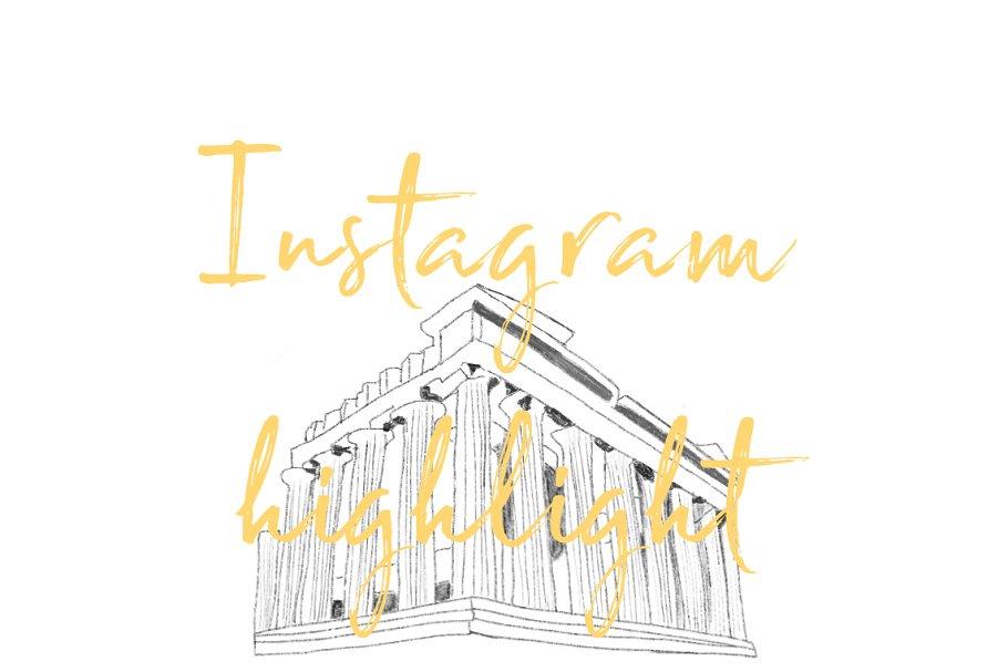 Athens Greece Instagram Icon