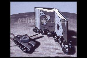 War of Words Handmade Illustration