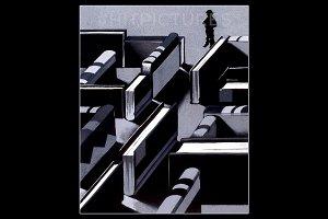 Book Maze Handmade Illustration