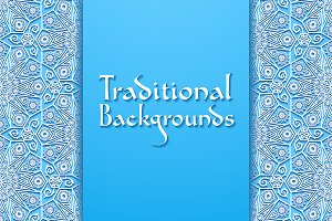 2 Traditional Floral Backgrounds