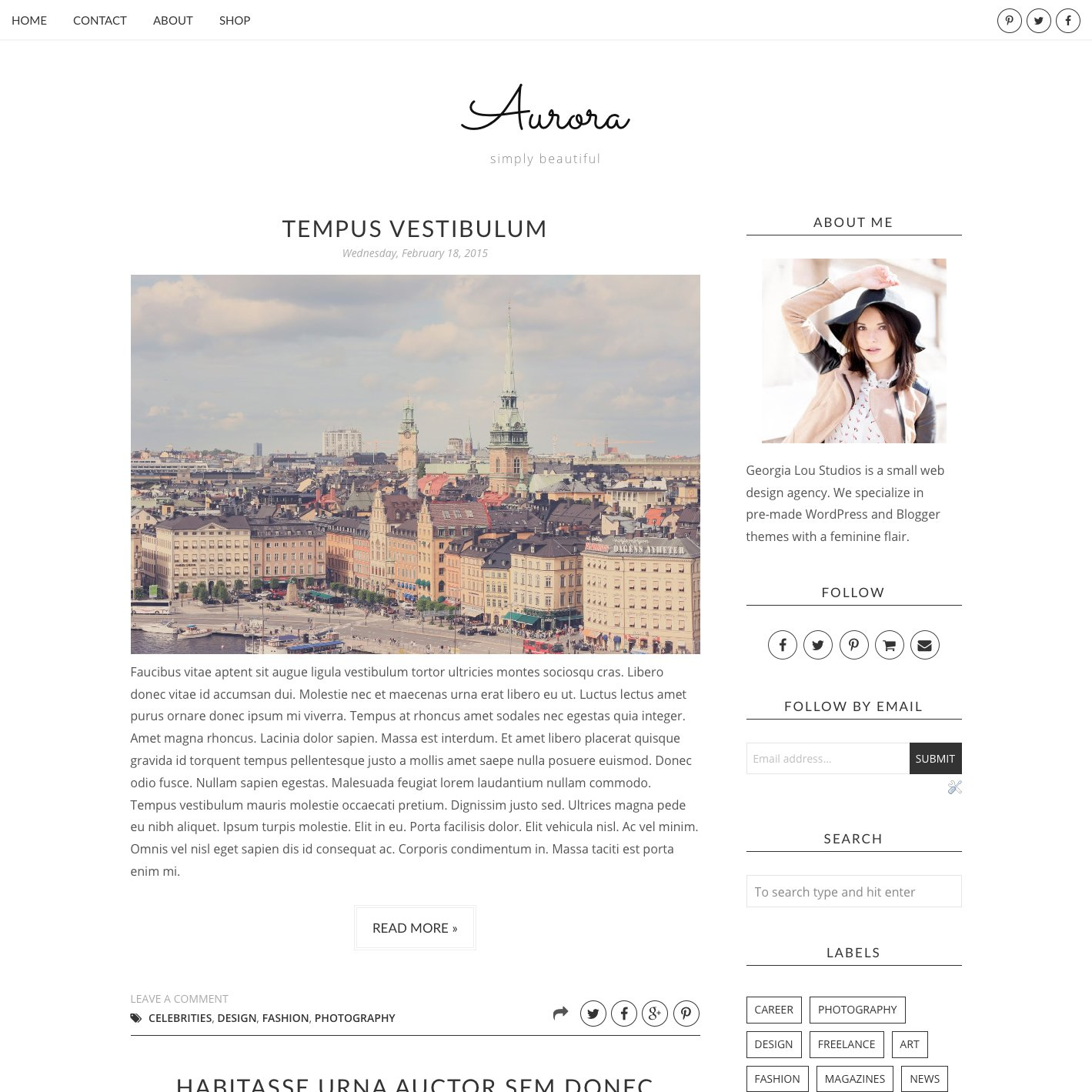 Blogger Template, Responsive, Aurora ~ Website Templates ~ Creative ...