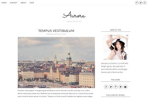 Blogger Template, Responsive, Aurora