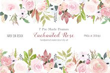 Enchanted Rose - 7 Pre-made Frames