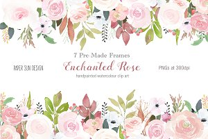 Enchanted Rose - 7 Pre-made Frames
